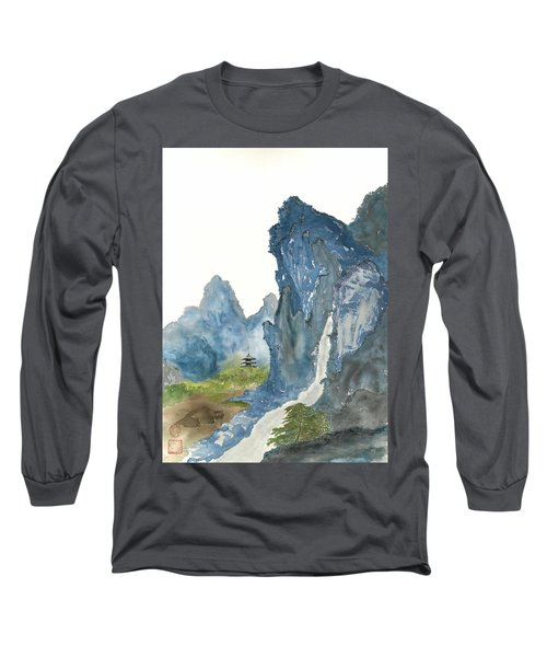 Blue Mountain Morning Long Sleeve T-Shirt