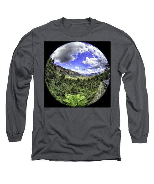 Long Sleeve T-Shirt featuring the photograph Blue Mountains Fisheye by Chris Cousins