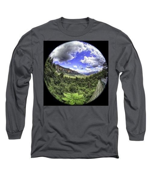 Blue Mountains Fisheye Long Sleeve T-Shirt