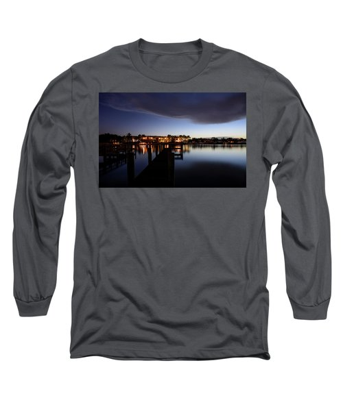Long Sleeve T-Shirt featuring the photograph Blue Night by Laura Fasulo