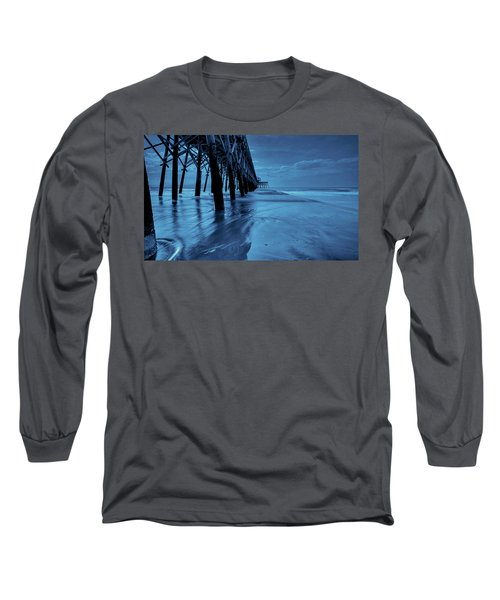 Blue Pier Long Sleeve T-Shirt by RC Pics