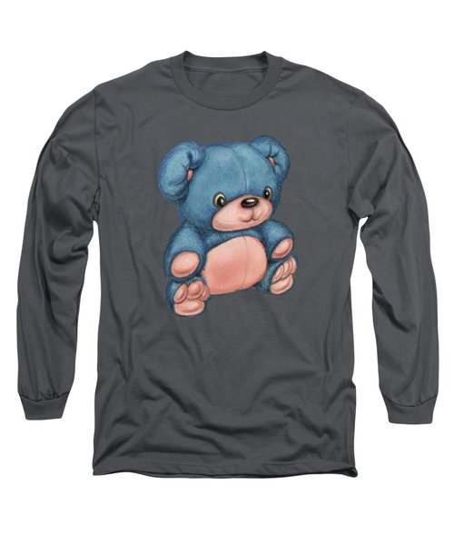 Blue Pink Bear Long Sleeve T-Shirt by Andy Catling
