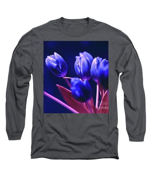 Blue Poetry Long Sleeve T-Shirt