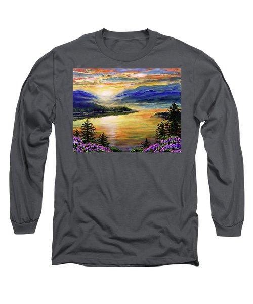 Blue Ridge Lake View Sunset Long Sleeve T-Shirt