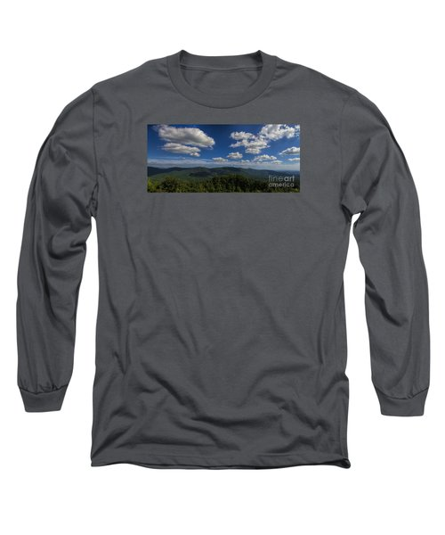 Blue Ridge Mountains Long Sleeve T-Shirt by Barbara Bowen
