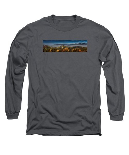 Long Sleeve T-Shirt featuring the photograph Blue Ridge Panorama by Ellen Heaverlo