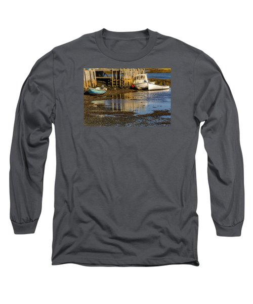Blue Rocks, Nova Scotia Long Sleeve T-Shirt by Ken Morris