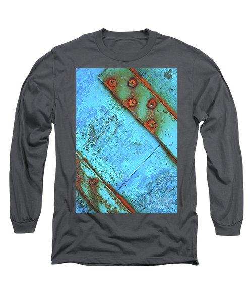 Blue Rusty Boat Detail Long Sleeve T-Shirt