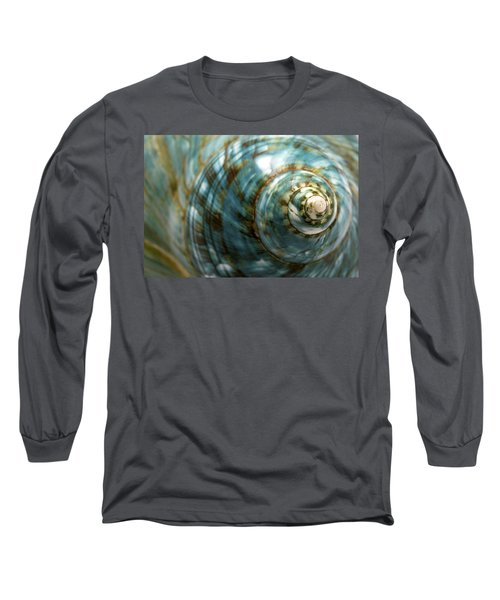 Blue Seashell Long Sleeve T-Shirt