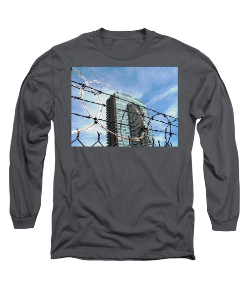 Blue Sky And Barbed Wire Long Sleeve T-Shirt