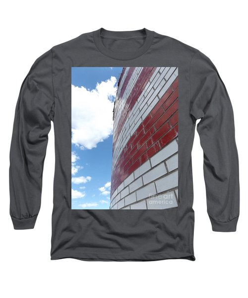 Blue Sky Brick Flag Long Sleeve T-Shirt