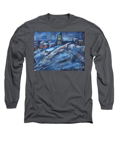 Blue Snow City Long Sleeve T-Shirt