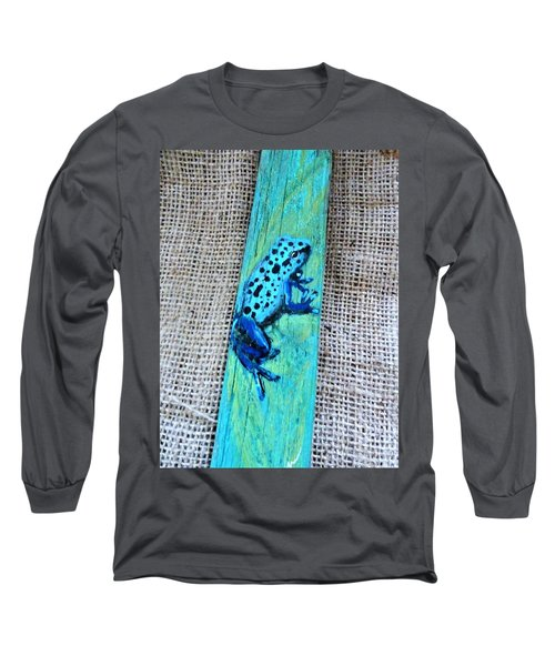 Blue-spotted Tree Frog Long Sleeve T-Shirt by Ann Michelle Swadener
