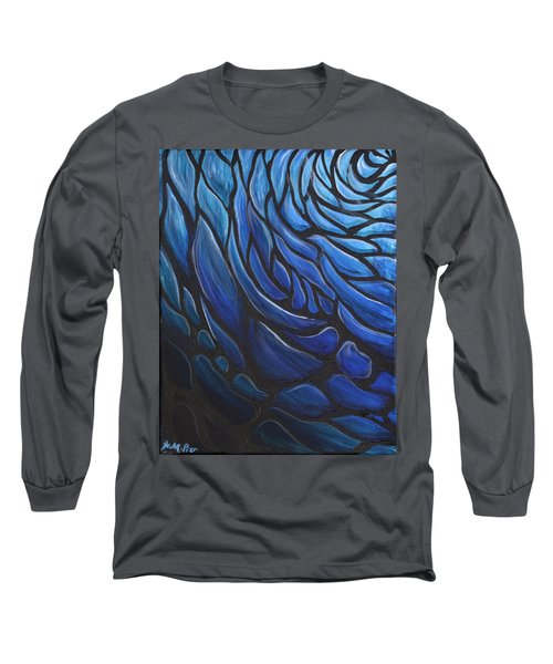 Blue Stained Glass Long Sleeve T-Shirt