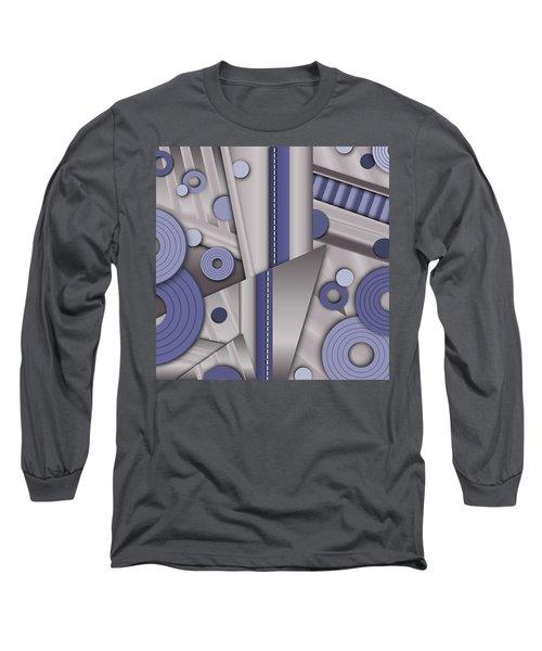Blue Steel Long Sleeve T-Shirt by Tara Hutton
