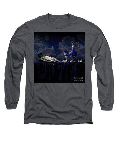 Long Sleeve T-Shirt featuring the photograph Blue Still Life by Alexa Szlavics