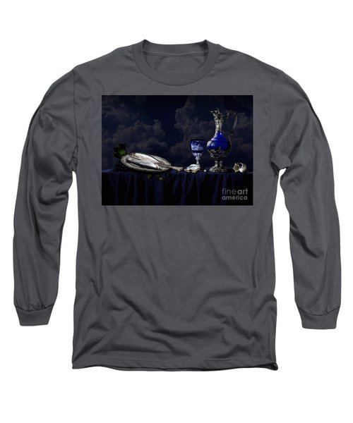 Still Life In Blue Long Sleeve T-Shirt