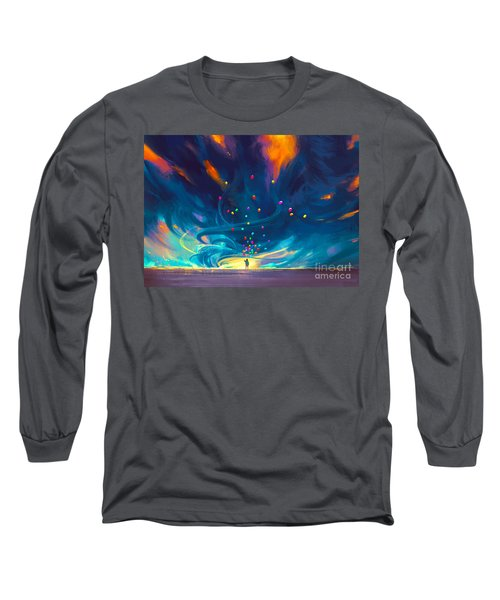Blue Tornado Long Sleeve T-Shirt