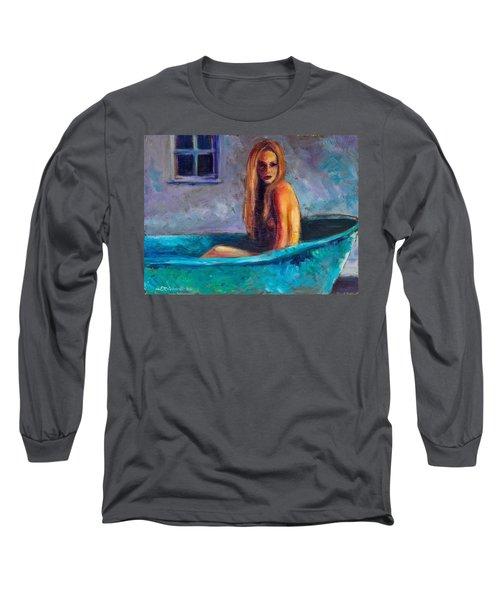 Blue Tub Study Long Sleeve T-Shirt