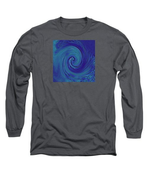 Blue Wave Long Sleeve T-Shirt by Kerri Ligatich