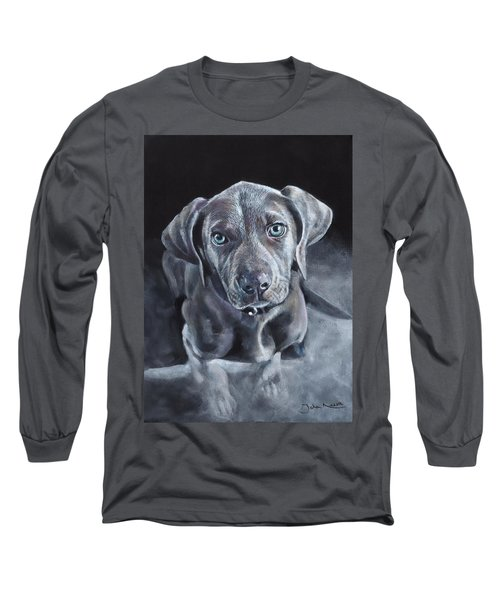 Blue Weimaraner Long Sleeve T-Shirt
