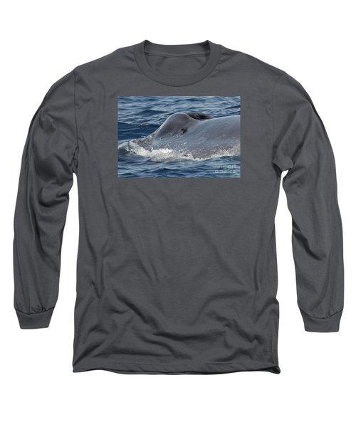 Blue Whale Head Long Sleeve T-Shirt