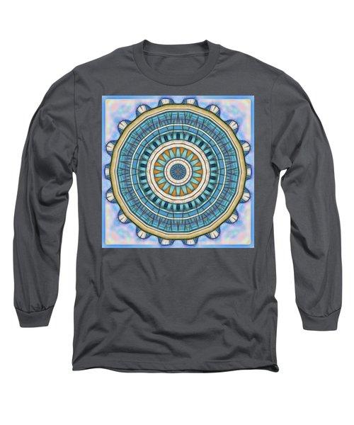 Long Sleeve T-Shirt featuring the digital art Blue Wheeler 1 by Wendy J St Christopher