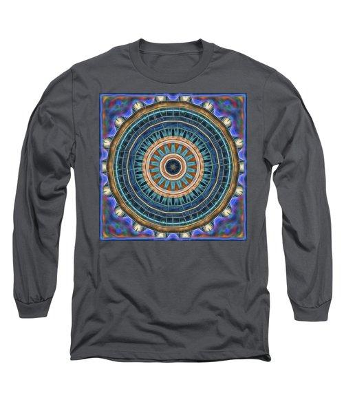 Long Sleeve T-Shirt featuring the digital art Blue Wheeler 2 by Wendy J St Christopher