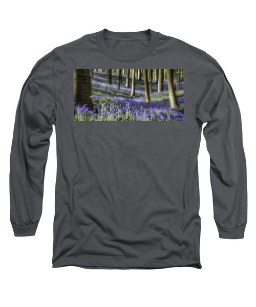 Long Sleeve T-Shirt featuring the photograph Bluebell Forest Color Explosion by Dirk Ercken
