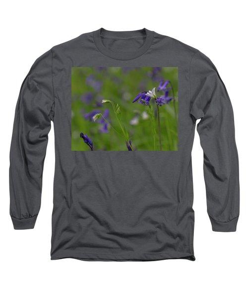 Bluebells And Stitchwort  Long Sleeve T-Shirt