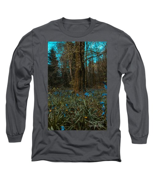 Bluebells In Lismore Forest 2 Long Sleeve T-Shirt