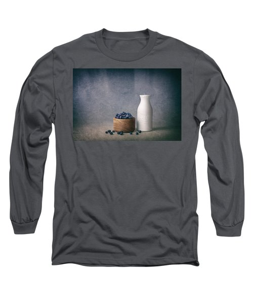 Blueberries And Cream Long Sleeve T-Shirt by Tom Mc Nemar