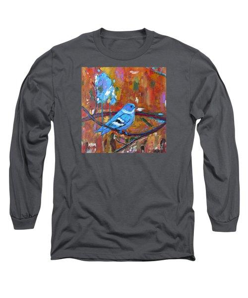 Bluebird In Autumn Long Sleeve T-Shirt