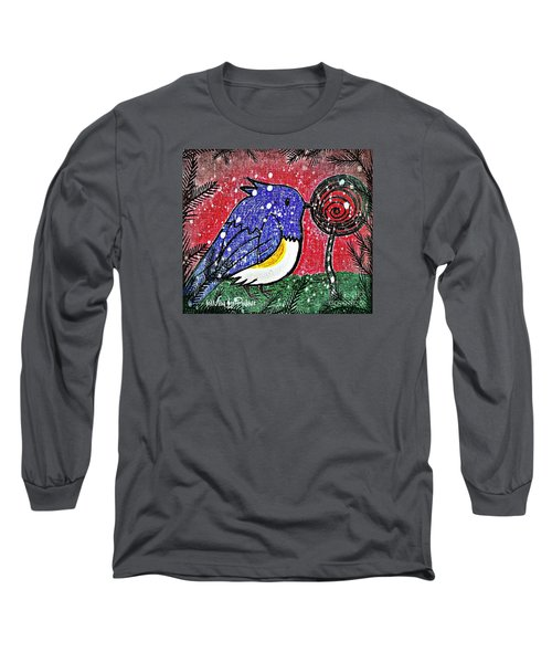 Bluebird Of The Season Long Sleeve T-Shirt by MaryLee Parker