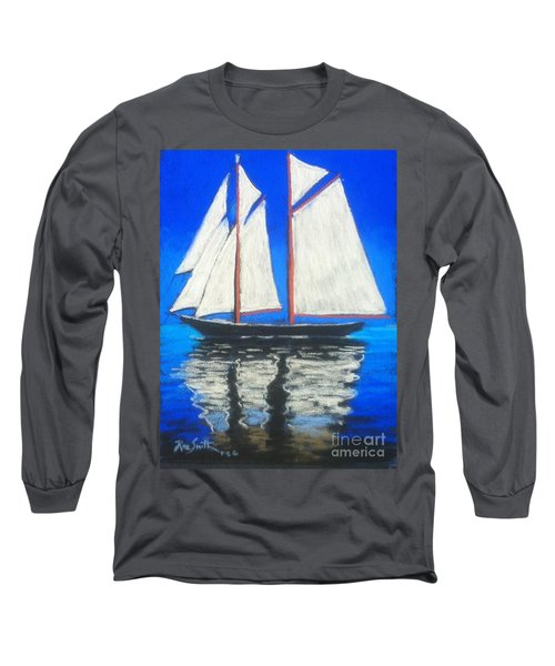 Bluenose 2 Long Sleeve T-Shirt by Rae  Smith