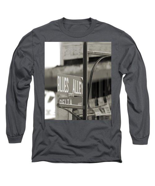 Blues Alley Street Sign Long Sleeve T-Shirt