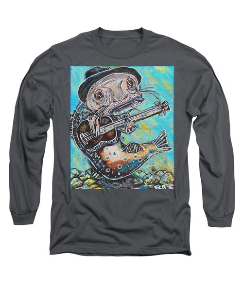 Blues Cat Revisited Long Sleeve T-Shirt