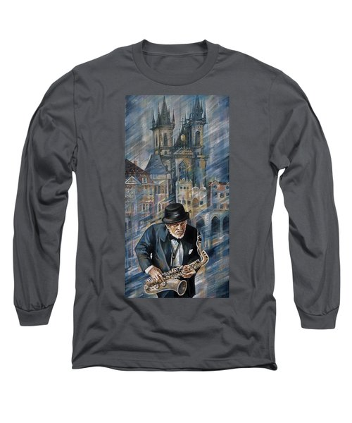 Blues Of Prague. Long Sleeve T-Shirt