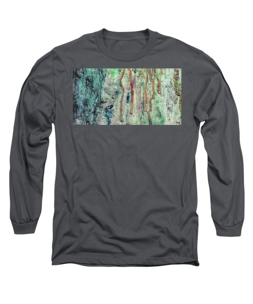 Standing In The Rain - Large Abstract Urban Style Painting Long Sleeve T-Shirt