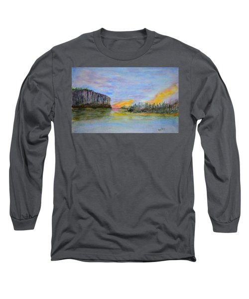 Bluffs At Sunset Long Sleeve T-Shirt