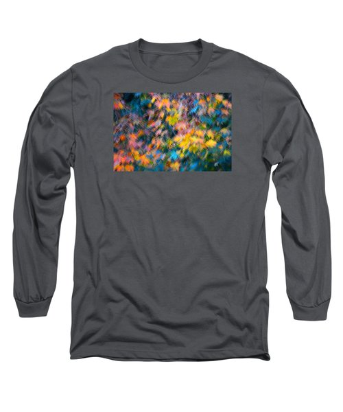 Blurred Leaf Abstract 3 Long Sleeve T-Shirt