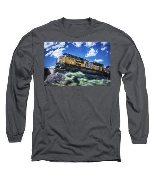 Blurred Rails Long Sleeve T-Shirt