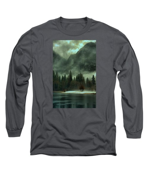 Blustery Yosemite Long Sleeve T-Shirt by Josephine Buschman