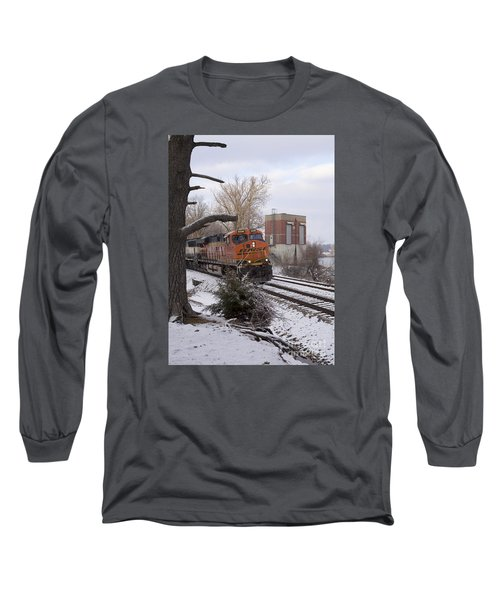 Long Sleeve T-Shirt featuring the photograph Bnsf 6338 - Train Photo by Jane Eleanor Nicholas