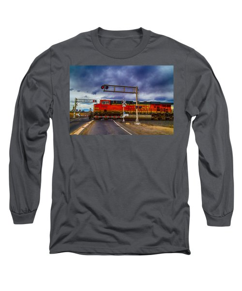 Bnsf 7682 Crossing Long Sleeve T-Shirt by Bartz Johnson