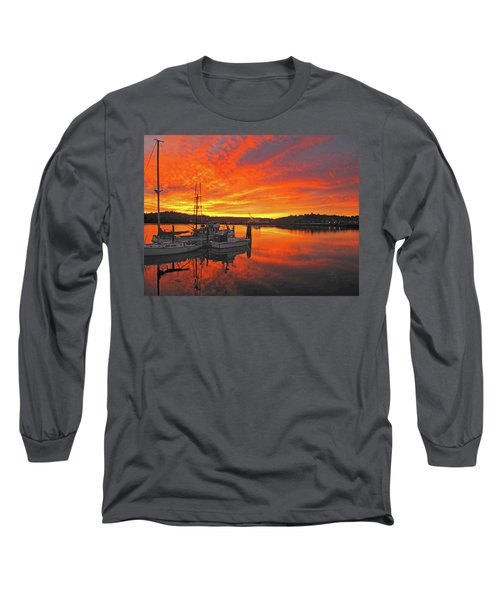 Long Sleeve T-Shirt featuring the photograph Boardwalk Brilliance With Fish Ring by Suzy Piatt