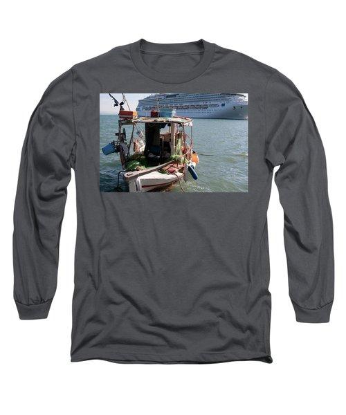 Boat And Ship Long Sleeve T-Shirt