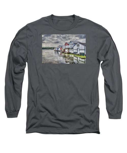 Boat Houses In The Finger Lakes Long Sleeve T-Shirt