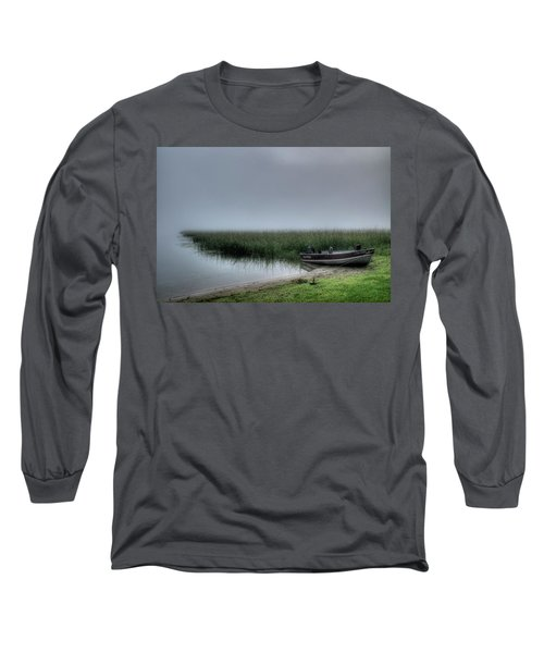 Boat In The Fog Long Sleeve T-Shirt
