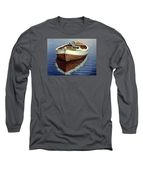 Boat Long Sleeve T-Shirt by Natalia Tejera